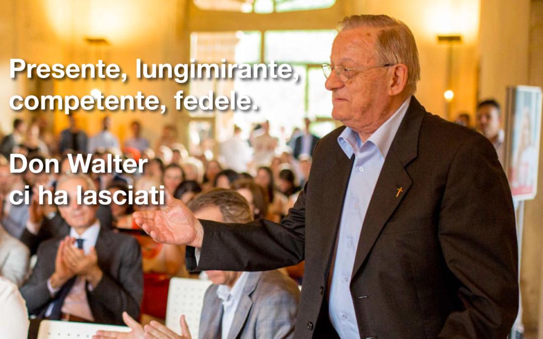 Il saluto di ISRE al prof. Walter Cusinato