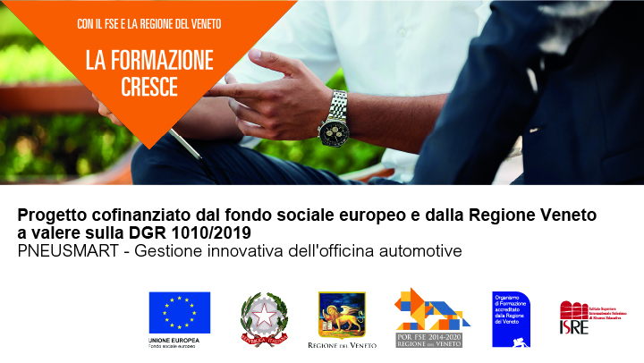 Progetto cofinanziato dal Fondo sociale europeo e dalla Regione Veneto il progetto a valere sulla DGR 1315/2019 – Azione 1 – PROMETEO:  pronti al meglio per trasferire e orientare