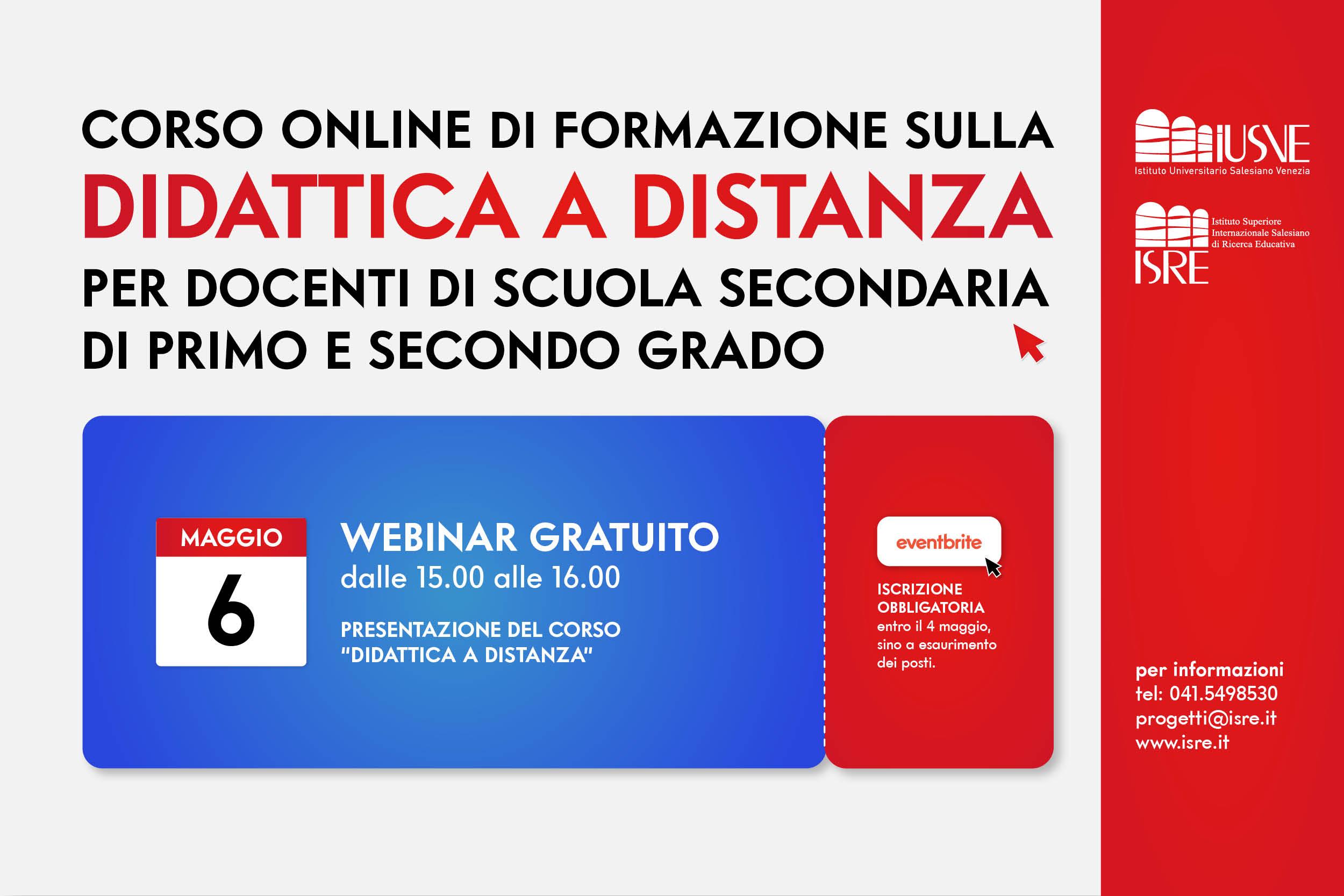 """""""Didattica a distanza"""" corso online per docenti"""